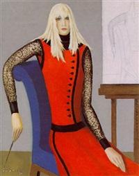 la femme à la robe rouge by georges fustier