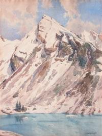 le lac de couflans by eugène bernhardt