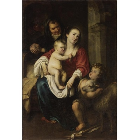 the virgin and child with saint anne and the infant saint john the baptist by jürgen ovens