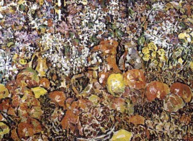 nature morte aux fleurs et aux fruits by rady rautovich yakubov