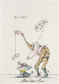 brown meets bush by gerald scarfe