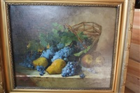 nature morte aux raisins by paul fournier