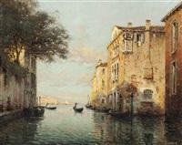 a gondolier on a venetian backwater by noel georges bouvard
