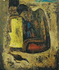 two figures by cheong soo pieng