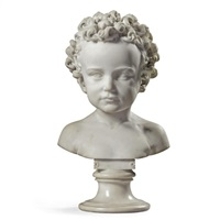 a bust of a child by elisabeth ney