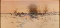 winter twilight walk by dubois fenelon hasbrouck