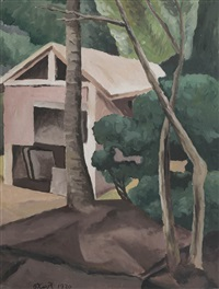 untitled (house and tree) by george keyt