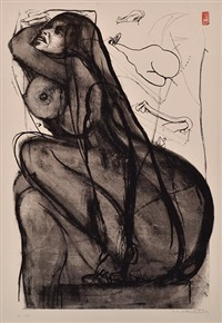 towards sculpture 4 by brett whiteley