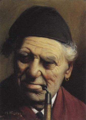 portrait dhomme à la pipe by johann heinrich chrisoph könig