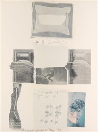 two reasons birds sing (from suite of nine prints) by robert rauschenberg