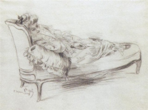 By Pierredesire Lady Reclining Longue Chaise EugeneFranc A On vmI7bf6gyY