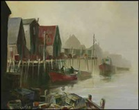 quiet harbour, peggy's cove by william edward de garthe