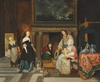 the visit to the nursery by gabriel metsu