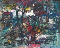 les amoureux sous les arbres by maurice vagh-weinmann