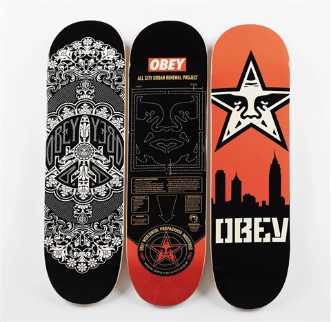 obey urban renewal skylin 3 works by shepard fairey