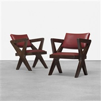 pair of chairs from chandigarh by pierre jeanneret