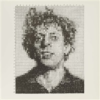 sheet 8 x 8 inches; 203 x 203 mm by chuck close