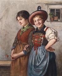 zwei dirndln by emma (edle von seehof) müller