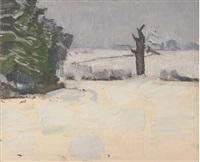 snowy landscape by claude rogers