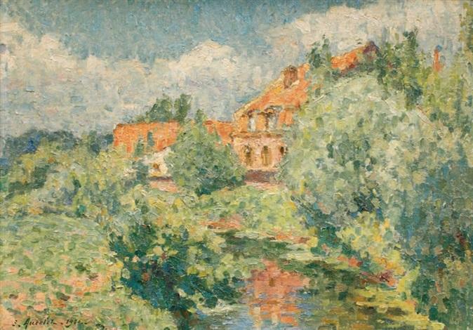 Maison dans les arbres la maison du peintre santes by emile ancelet on artnet - La maison du peintre ...