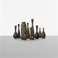 collection of twelve vases (set of 12) by carl-harry stålhane
