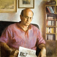 portrait of the artist's father by amnon david ar