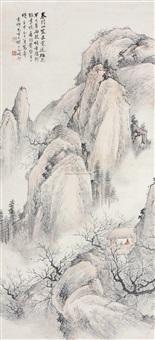 浅绛山水 (landscape) by xu xiaochun