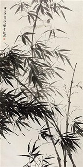 竹鸟图 by liu lishang