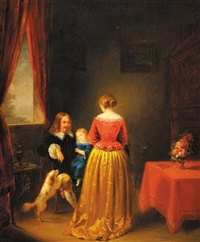 scène de famille by jean auguste testé