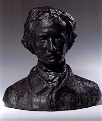 bust of edgar allan poe by rudolph evans