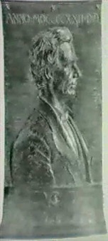 portrait relief of abraham lincoln by frederick warren allen