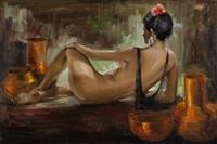 desnudo femenino (maja) by josé cruz herrera
