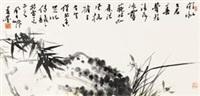 兰竹双清 by jiang fengbai