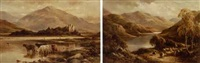 loch long (+ kilchurn, loch ave, argyllshire; pair) by murray j. macdonald