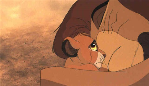 The Lion King Mufasa And Simba By Walt Disney Studios On Artnet