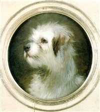 head of a terrier by thomas william earl