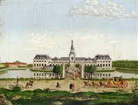 view of hirschholm castle as it looked when the queen mother sophie magdalene lived there by christian georg lind