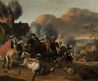 combat de cavaliers by herman van lin