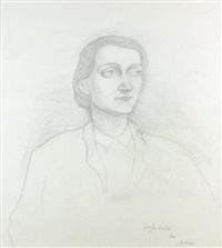 portrait de jeune femme, lotte carrive by pierre klossowski