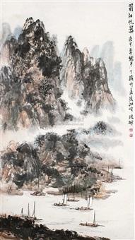 蜀江帆影 by luo yingcun
