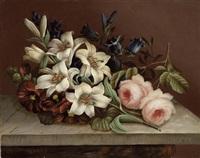 blumenstillleben mit lilie by edwin steele
