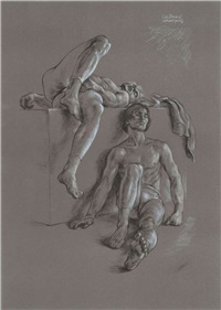 dancers resting (6 works) by paul cadmus