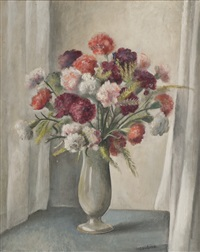 nature morte au bouquet de fleurs by otakar (othon) coubine