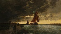 barge before a storm by auguste paul charles anastasi