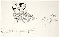 quadrille à quatre pattes avec autoportrait by paul verlaine