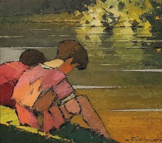 enfants au bord de leau by frederic fiebig