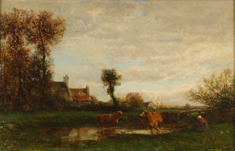 landscape by emile charles lambinet
