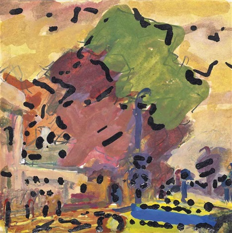 park village east primrose hill by frank auerbach