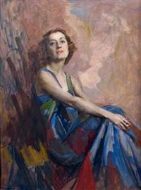 portrait de (la comtesse barbara dessailles?) by giuseppe amisani
