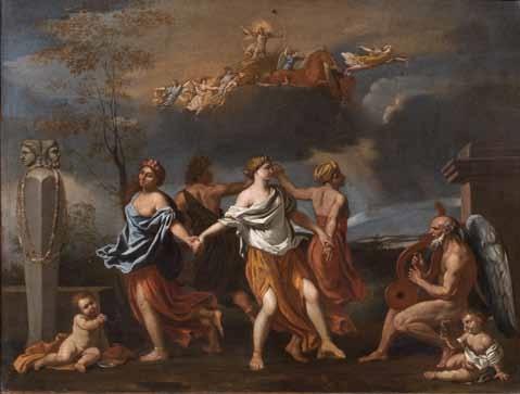 l'eterna danza del tempo by nicolas poussin